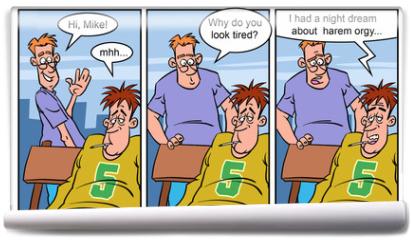 Fototapeta - Adult comics strip 3