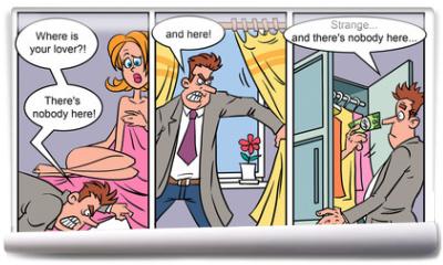 Fototapeta - Adult comics strip 1