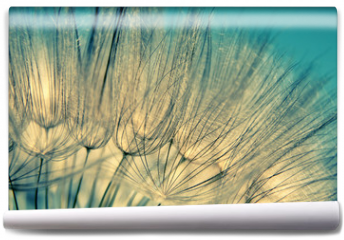 Fototapeta - Blue abstract dandelion flower background
