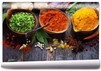 Fototapeta - Spices and herbs