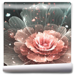 Fototapeta - pink and gray abstract  flower