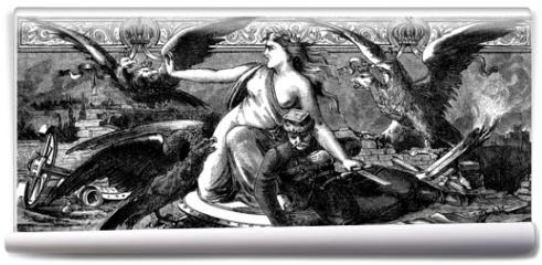 Fototapeta - Symbol : Mother-Country - Mère-Patrie - 19th century