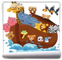 Fototapeta - Noah's Ark cartoon