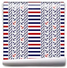 Fototapeta - Nautical seamless pattern. Vector illustration.