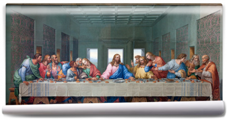 Fototapeta - Vienna - Mosaic of Last supper - copy Leonardo da Vinci