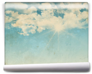 Fototapeta - Grunge background of a sunny blue sky