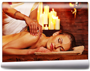 Fototapeta - Woman having Ayurvedic spa treatment.