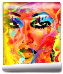 Fototapeta - Modern digital art image of a woman's face