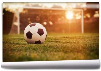 Fototapeta - Soccer sunset