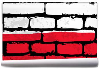 Fototapeta - mur flaga polska wektor