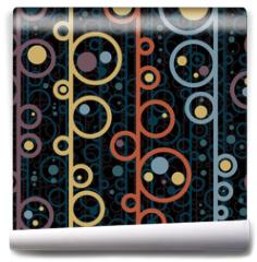 Fototapeta - Disco style circles seamless pattern.