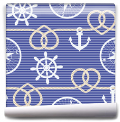 Fototapeta - Nautical seamless pattern