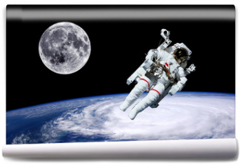 Fototapeta - Astronaut Earth Moon Space
