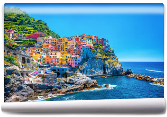 Fototapeta - Beautiful colorful cityscape