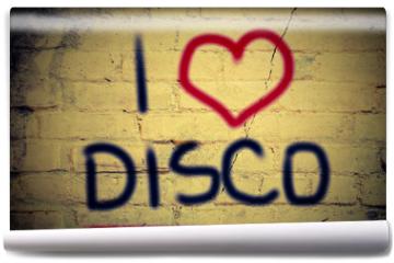 Fototapeta - I Love Disco Concept