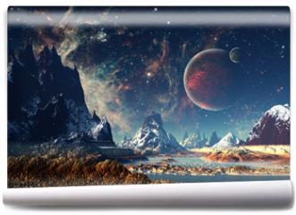 Fototapeta - Alien Planet - 3D rendered computer artwork