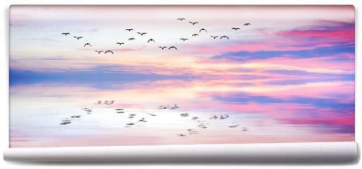 Fototapeta - panoramica de reflejos en el mar