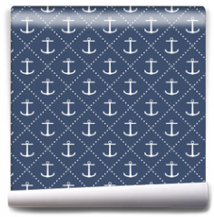 Fototapeta - Anchor seamless pattern