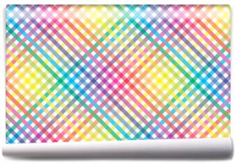 Fototapeta - 壁紙背景素材(多数の虹色小球体の放射, 虹, 虹色, 七色, レインボー, )