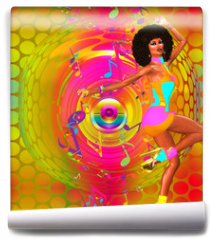Fototapeta - Colorful Retro Disco Dancer