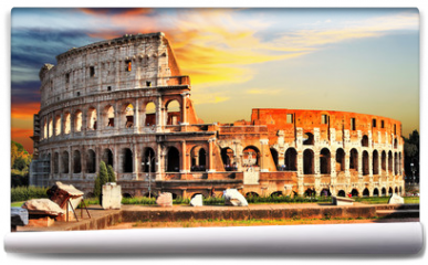 Fototapeta - great Colosseum on sunset, Rome