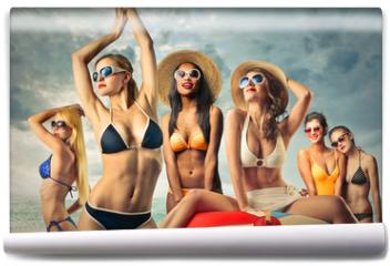 Fototapeta - Girls at the beach
