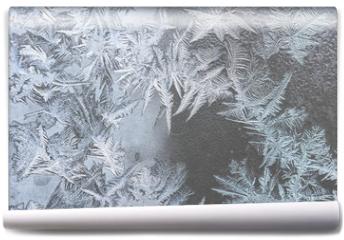 Fototapeta - pattern on frozen window