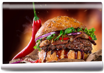 Fototapeta - Delicious hamburger