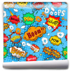 Fototapeta - Comic speech bubbles seamless pattern vector