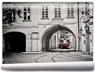 Fototapeta - Red tram