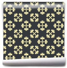 Fototapeta - Retro vector gym seamless pattern