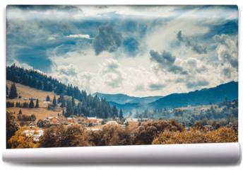 Fototapeta - landscape in mountains Karpaty