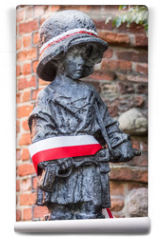 "Fototapeta - ""Little Insurgent"" statue in Warsaw, Poland"