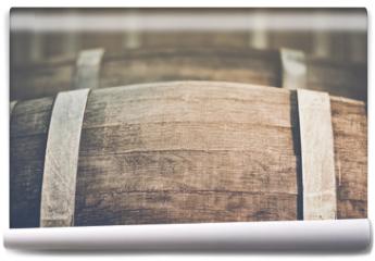Fototapeta - Wine Barrel with Vintage Instagram Film Style Filter