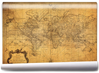 Fototapeta - vintage map of the world 1778
