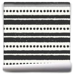 Fototapeta - Hand Drawn Abstract Seamless Pattern