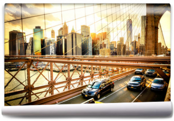 Fototapeta - New York City, Brooklyn Bridge skyline