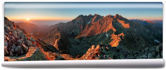 Fototapeta - Panorama mountain autumn landscape