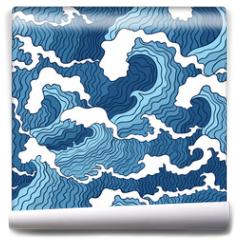 Fototapeta - Abstract wave seamless pattern.