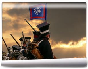 Fototapeta - nineteenth century soldiers marching