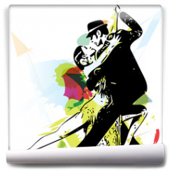 Fototapeta - Latino Dancing couple