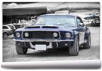 Fototapeta - Vehículo clásico americano