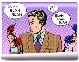 Fototapeta - Spam phone bad call business communications businessman work