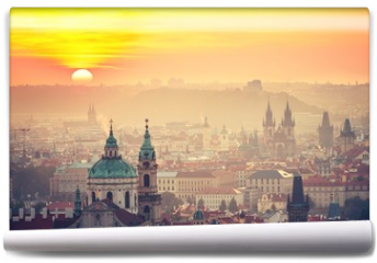 Fototapeta - Prague at the sunrise
