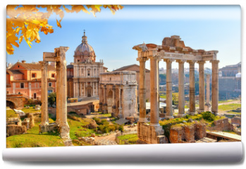 Fototapeta - Roman ruins in Rome, Forum