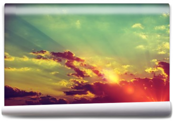 Fototapeta - Sunset Scenery Background