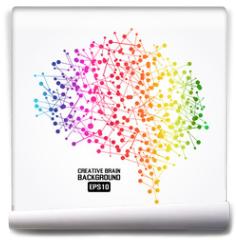 Fototapeta - Creative brain colorful background