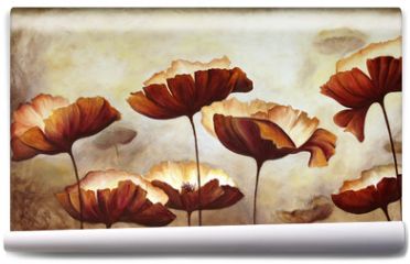 Fototapeta - Painting poppies canvas
