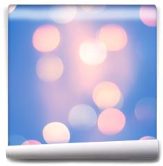 Fototapeta - Blurred Blue Pastel Color Lights. Bright festive background