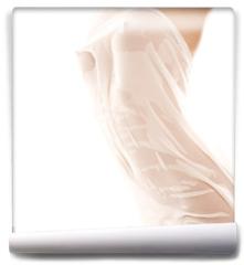 Fototapeta - Photo of nude female body with fabric